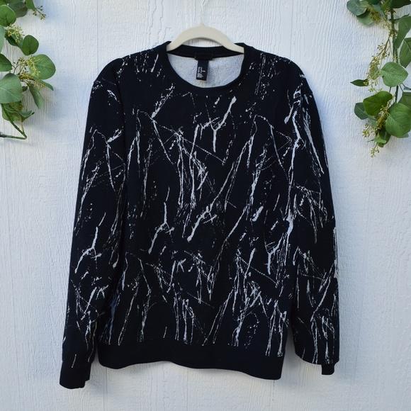 H&M Other - H&M black line splatter sweater
